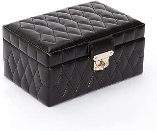 WOLF Caroline Small Jewelry Case, 6x8.75x4.25, Black