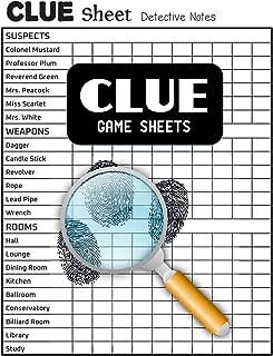 Clue Game Sheets: Clue Score Sheet Book