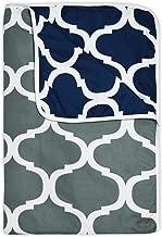 Divine Casa Natty Abstract Microfibre Single Dohar - Grey and Blue