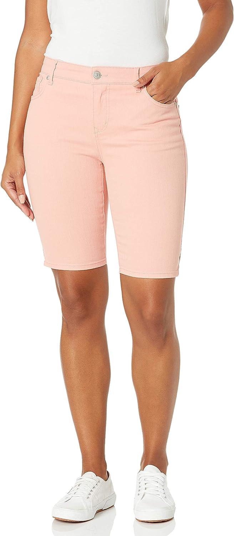 Gloria Vanderbilt Women's Mid Rise Belted Jean Bermuda Short