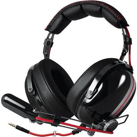 ARCTIC P533 Racing Cuffie Da Gioco Oltre l'Orecchio Gaming Headset Over-Ear Microfono a Braccio Con Controllo Volume Jack da 3,5mm Rosso