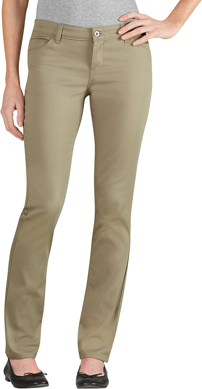 Dickies Women's Junior 5-Pocket Stretch Twill Pant Slim Boot Leg