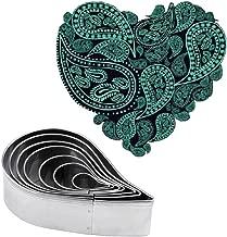 Plain Paisley Pattern Cutter Set Fondant Molds for Gum paste Sugarcraft Cake Decorating Stainless Steel,7pcs