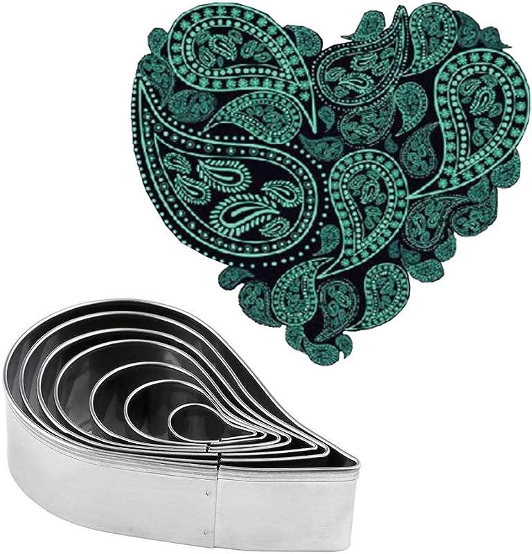 Plain Paisley Pattern Cutter Set Fondant Molds For Gum Paste Sugarcraft Cake Decorating Stainless Steel 7pcs