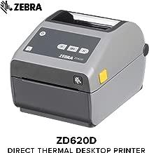 Zebra - ZD620d Direct Thermal Desktop Printer for Labels and Barcodes - Print Width 4 in - 300 dpi - Interface: Ethernet, Serial, USB - ZD62043-D01F00EZ