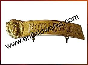 SPEEDYRIDERS Vintage Brass Royal Enfield Bullet Rear Mudguard Number Plate Lion