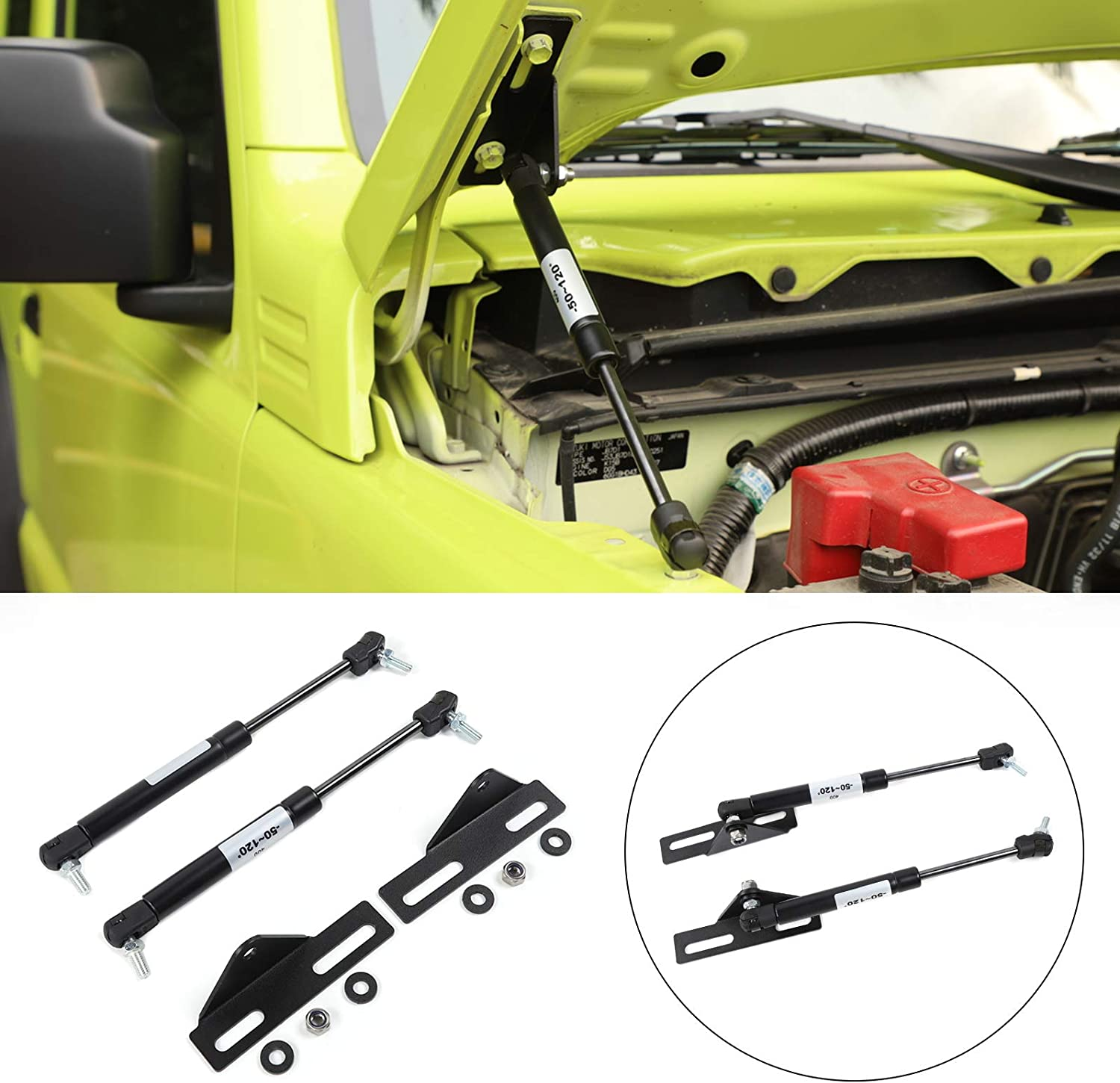 Mad Today's only latest Hornets Black Front Hood Lift Fi Supports Hydraulic Rod