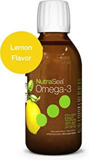Nature's Way NutraSea Omega 3 Supplement, GMO Free, Lemon, 200 mL Liquid
