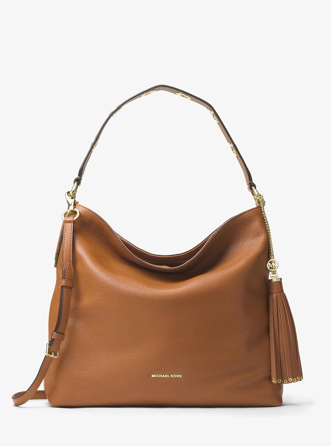 情緒的リンク打撃(マイケル コース) Michael Michael Kors Women`s Brooklyn Large Leather Shoulder Bag レディースブルックリンラージレザーショルダーバッグ(並行輸入品)