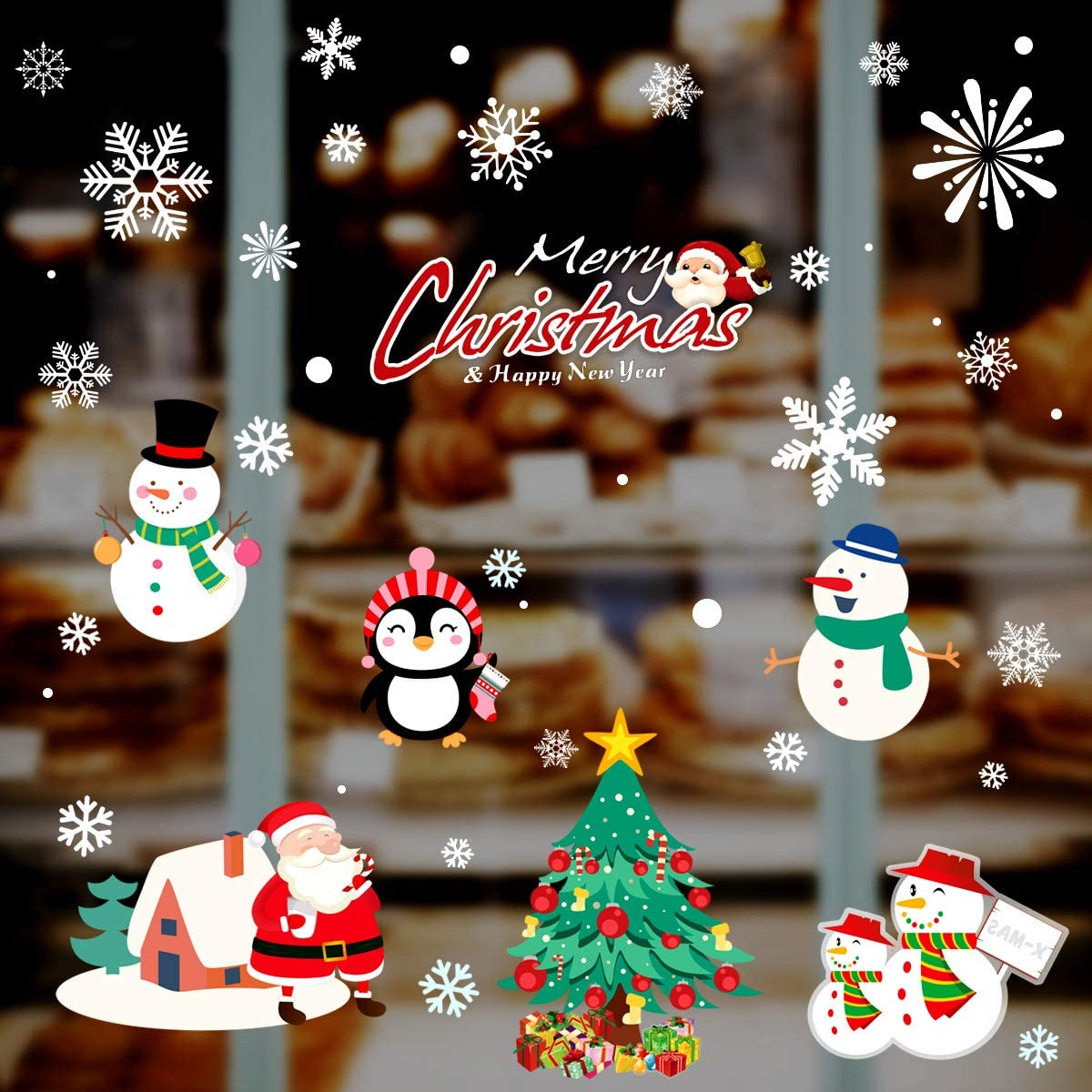 Max 43% OFF 195 PCS Snowflakes Christmas Window Stickers Decal Clings Xmas specialty shop