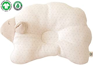 Organic Cotton Baby Protective Pillow Prevent from flat head (Cloud Lamb ( Choco Dot ))