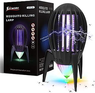 SOLMORE Lampe Anti-Moustique Extraterrestre, Lampe Anti-Moustique Domestique, avec lumière d'ambiance Nocturne, autonomie ...