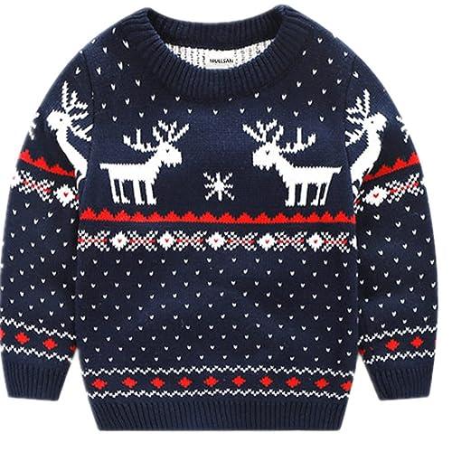 698220607 MULLSAN Children's Fireplace Lovely Sweater Christmas Best Gift