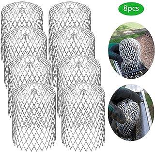 Protección de la tubería descendente Cubiertas de canalones de Canal de 3 Pulgadas Aleación de Aluminio liviano para Protector de Filtro de Lluvia de Hoja Canal de Malla de tamiz