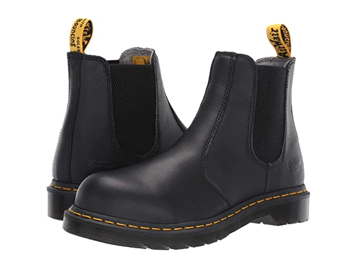 Dr. Martens Work  Arbor Steel Toe Chelsea Boot (Black) Womens Pull-on Boots