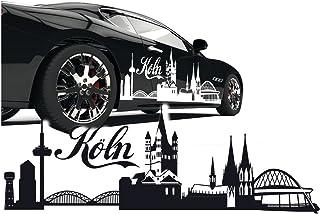 Silhouette Köln Kölner Dom Skyline Aut Aufkleber Sticker Stadt Motive zum Verkleben |SKD020