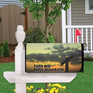 VictoryStore Outdoor Mailbox Cover - Religious, Faith Will Move Mountains, Magnetic Mailbox Cover