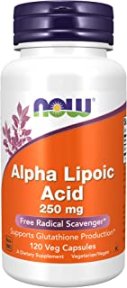 NOW Supplements, Alpha Lipoic Acid 250 mg, Supports Glutathione Production*, Free Radical Scavenger*, 120 Veg Capsules