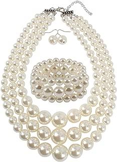 KOSMOS-LI Large Pearl Jewelry Set Pearl Statement 18
