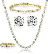 tennis earrings gold
