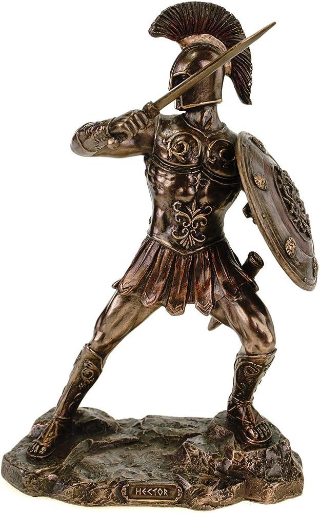 Statuetta di veronese troja grecia achilles