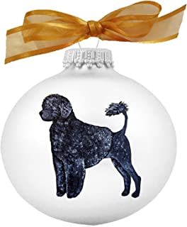 Portuguese Water Dog Lion Cut Hand Painted Christmas Ornament - Can Be Personalized with Name