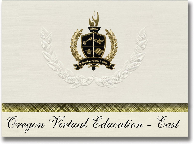 Signature Ankündigungen Oregon Virtual Bildung – East (MGold, oder) Graduation Ankündigungen, Presidential Stil, Elite Paket 25 Stück mit Gold & Schwarz Metallic Folie Dichtung B078WHY4HM    | Lebendige Form