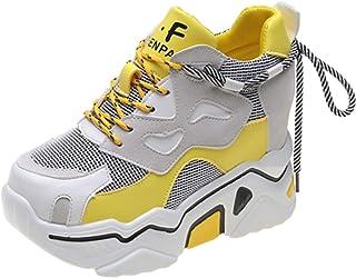 Jwans Femmes Plate Forme Chaussures décontractées Respirant antidérapant mélange Couleur Haut Baskets Dames Sport Marche c...