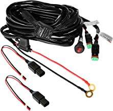 Primelux Universal 12ft Relay Wiring Harness for LED Light Bars Driving Lights Fog Lights Work Lights - 2 Leads(2x15A/16AWG)