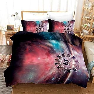 FEGER Colcha Funda nórdica y Funda de Almohada 2, Star Trek 3D Beding Conjunto, de algodón y poliéster, Personalizable,09,259 * 229cm