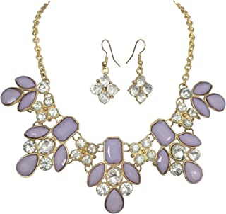 Gypsy Jewels Bright Abstract Bib Statement Boutique Necklace & Earrings Set - Assorted Colors