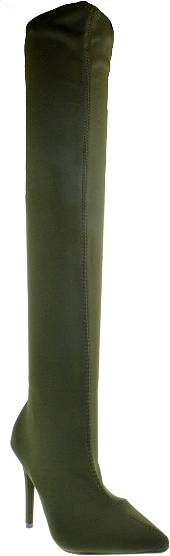 Anne Michelle Dedicate 48M Womens Elastane Pointy Toe Stiletto Boots
