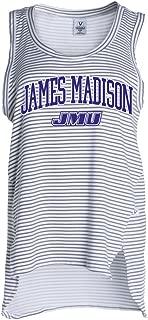 Official NCAA James Madison University Dukes JMU Duke the Dog Women's Stripe Ath Lesiure Tank Top