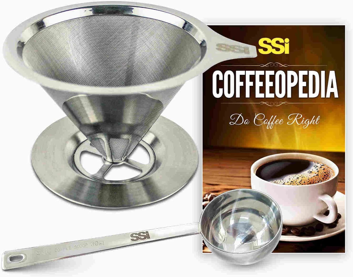 Pour Over Coffee Filter Dripper Kit with Scoo cheap Recommended Tablespoon 2 Bonus