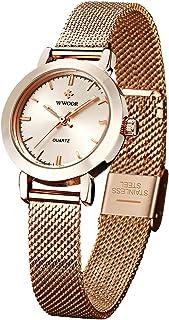 WWOOR Ultraplano Reloj de Mujer Reloj Redondo Dial,Reloj de