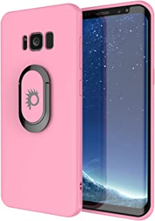 Galaxy S8 Case, Punkcase Magnetix Protective TPU Cover W/Kickstand, Ring Grip Holder & Metal Plate for Magnetic Car Phone Mount Plus PunkShield Screen Protector for Samsung S8 Edge [Pink]