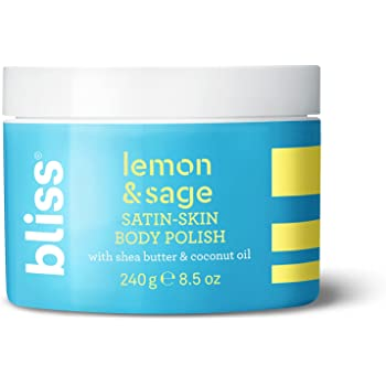 Bliss - Lemon & Sage Satin Skin Body Polish With Shea Butter & Coconut Oil   Smoothing & Balancing Skincare   All Skin Types   Cruelty Free   Paraben Free   8.5 fl. oz.