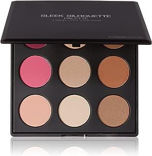 Coastal Scents Sleek Silhouette Blush, Highlighter, and Bronzer Palette (PL-017)