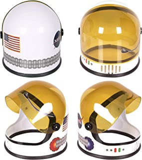 Astronaut Helmet with Movable Visor - Pretend & Play Toy for Dress Up Fun, Role Play Accessory, Birthday Party Favor Suppl...