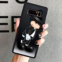 DISNEY COLLECTION Tire Edge Case Compatible with Samsung Galaxy Note 8 (2017) (6.3 Inch) Mickey Mouse Michael Jackson
