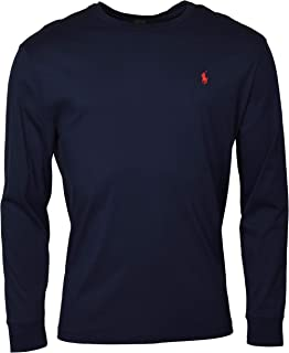 Mens Long Sleeve Crewneck Logo T-Shirt - M - Ink