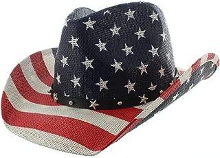 Milani Vintage Stars & Stripes American Flag Cowboy Hat - Unisex