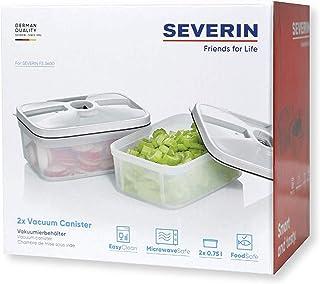 SEVERIN ZB 3620 2 matförvaringsbehållare, 0,75 liter kapacitet vardera, passar FS 3600 trådlös vakuumpinne, transparten, p...