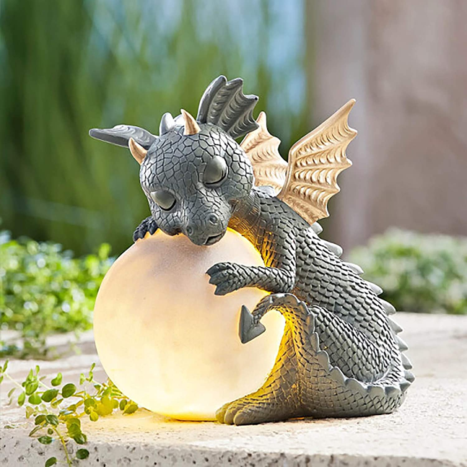 SNKSDGM Directly managed store Garden Dragon New Shipping Free Shipping Statue Figurine Holding Magic Resin