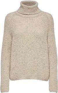 DOLCEVITA da Donna Cotone Lana Blu Marrone melange grandi dimensioni a maglia