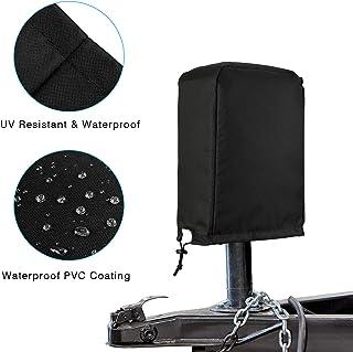 Kohree Abdeckung für elektrische Wagenheber für Reise Anhänger, Wohnmobil, wasserdicht, Zungenschutz, 600D Polyester, universelle Größe (H x B x T)