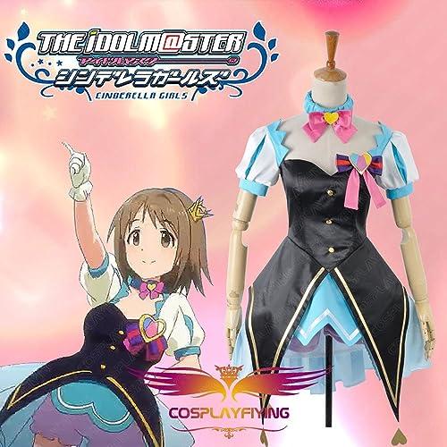 Sunkee The Idolmaster Cinderella Girls Shimamura Uzuki Cosplay Costumes ,Ma schneiderte,Größe XL  H  170cm-180cm