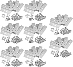 GBGS Rust Free Solar Panel Mounting Brackets Z Clip, Aluminum Alloy Support Hardware, 154LB Load Capacity for RV, Boat, Motor Home Roof 8 Pack (4 units/pack)