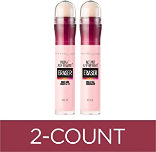 Maybelline Instant Age Rewind Eraser Dark Circles Treatment Multi-Use Concealer, Brightener, 0.2 Fl Oz (Pack of 2)