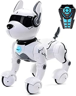 Top Race Remote Control Robot Dog Toy for Kids, Interactive & Smart Dancing to Beat Puppy Robot, Act Like Real Dogs, Gift Toy for Girls & Boys Ages 2,3,4,5,6,7,8,9,10 Years